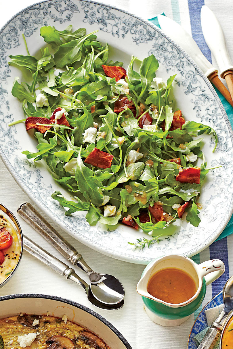 1708_ 20 Thanksgiving Sides You Can Make In Under 30 Minutes Arugula with Warm Bacon Vinaigrette