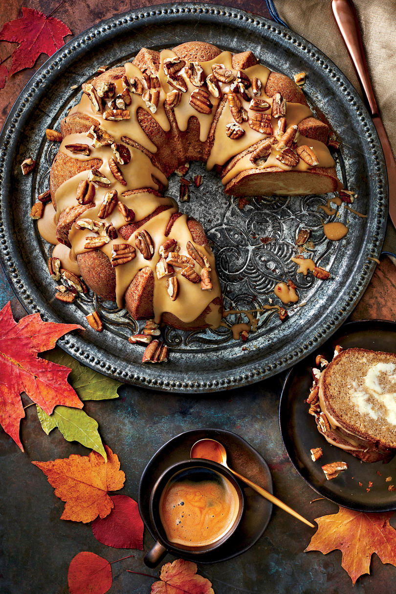 Apple-Spice Bundt Cake with Caramel Frosting