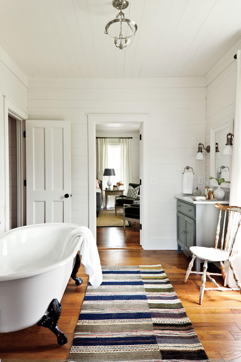 Classic and Clean White Bathrooms Southern