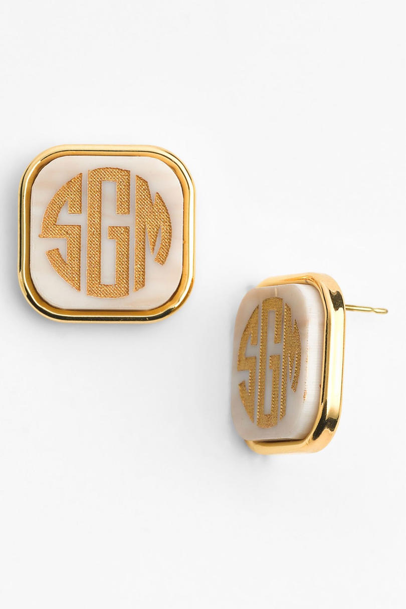 Personalized Monogram Stud Earrings