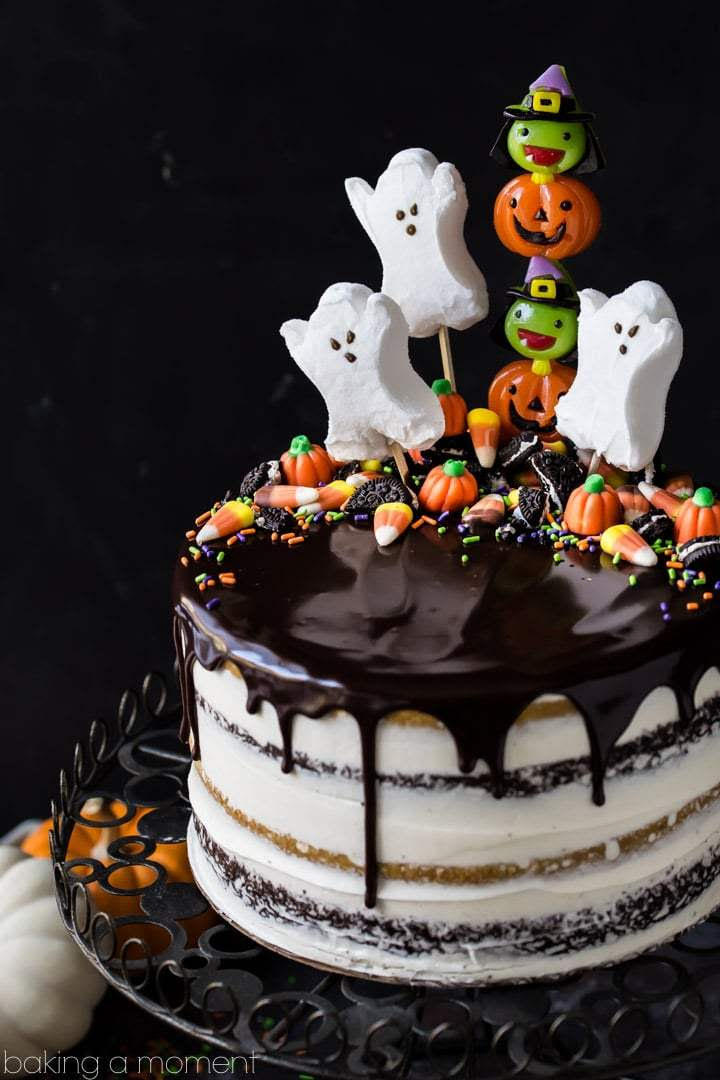 Spooky Semi Naked Birthday Cake