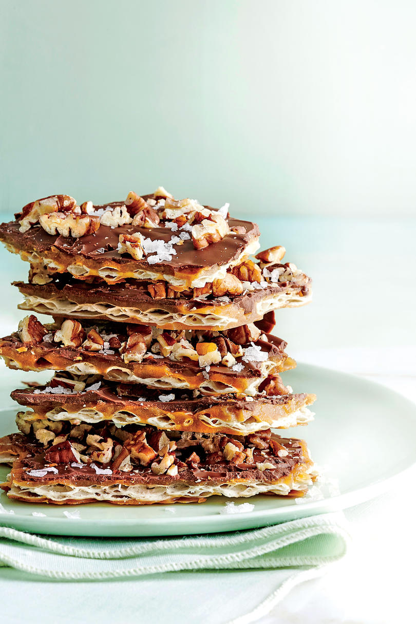 Salted Chocolate Matzo Madness Toffee