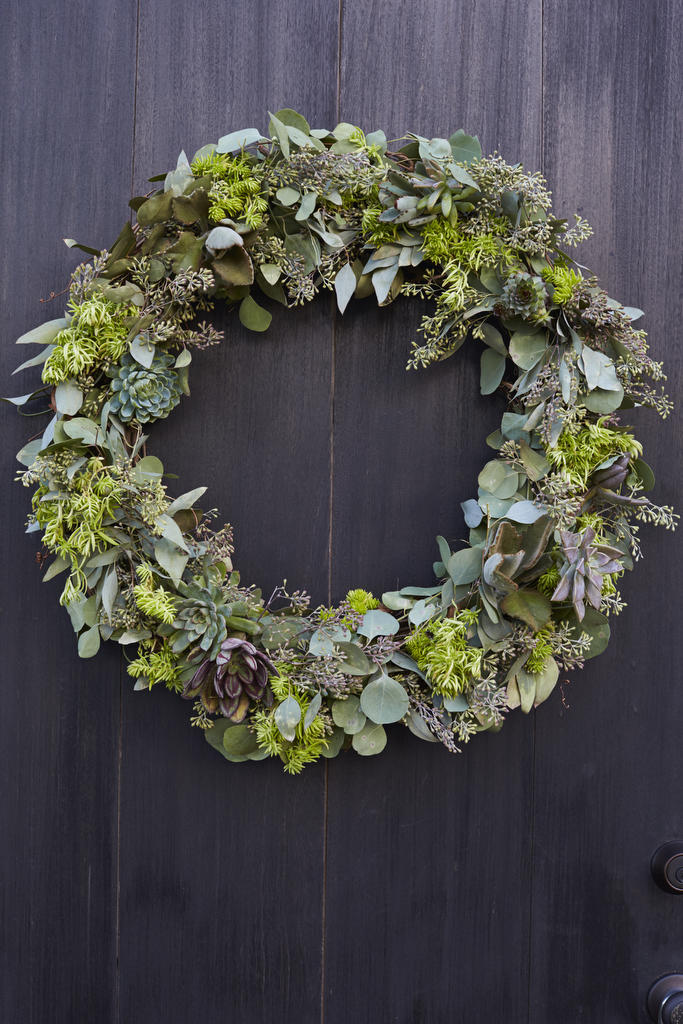 Subtle Succulent Wreath