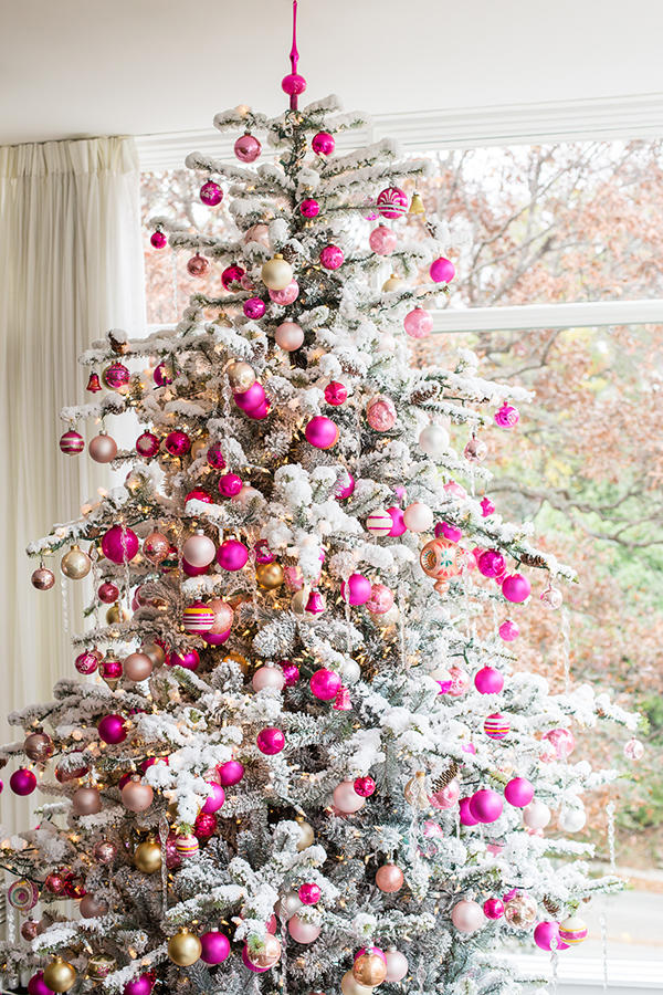Attractive Pink Christmas Tree Decorating Ideas Part - 8: Hot Pink Christmas Tree