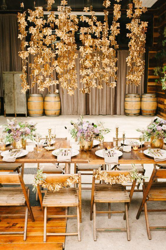 Gilded Leaves Fall Wedding