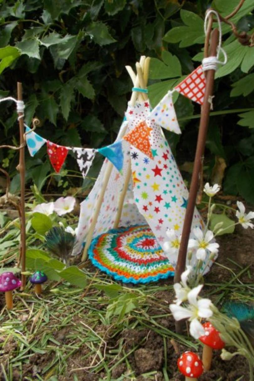 teepee fairy house - Diy Fairy Garden