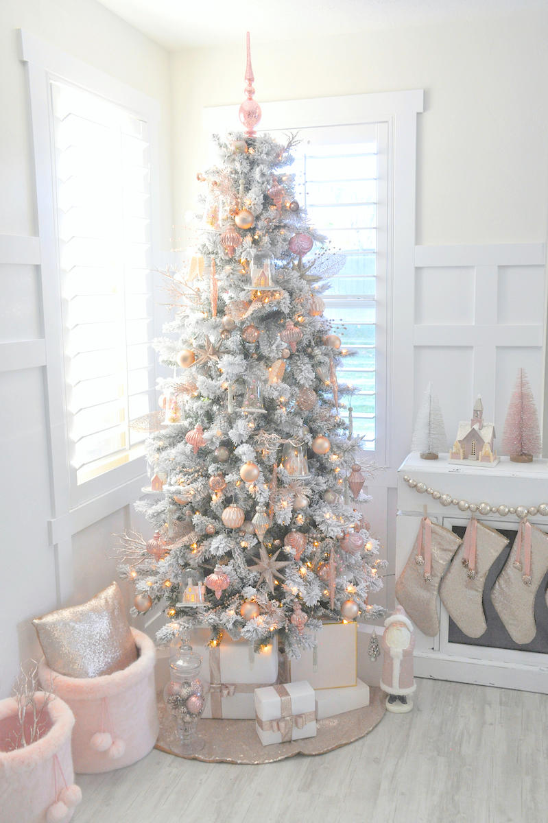 pink christmas trees we love
