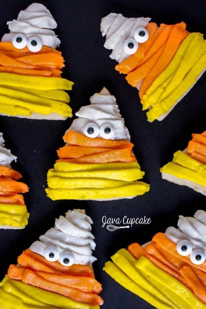 Candy Corn Mummy Cookies