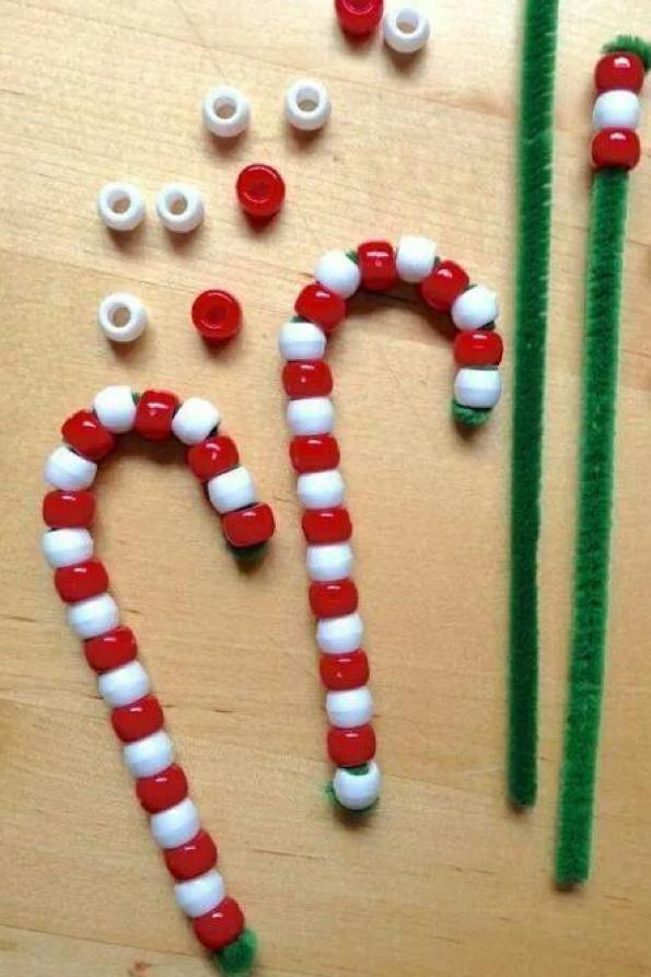 Beaded Candy Canes