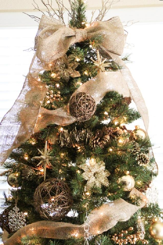 Bon Burlap Tree Topper