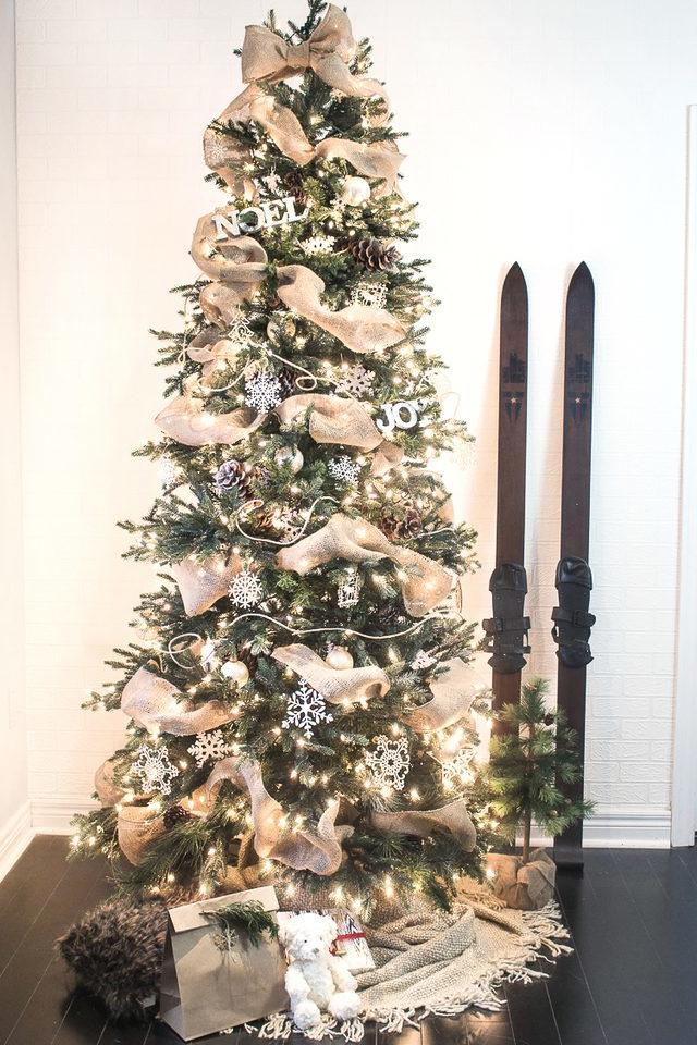 christmas tree ideas burlap beauty