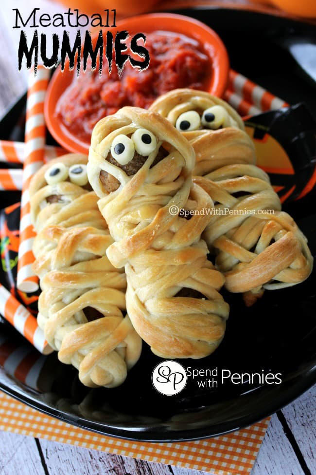 Meatball Mummies