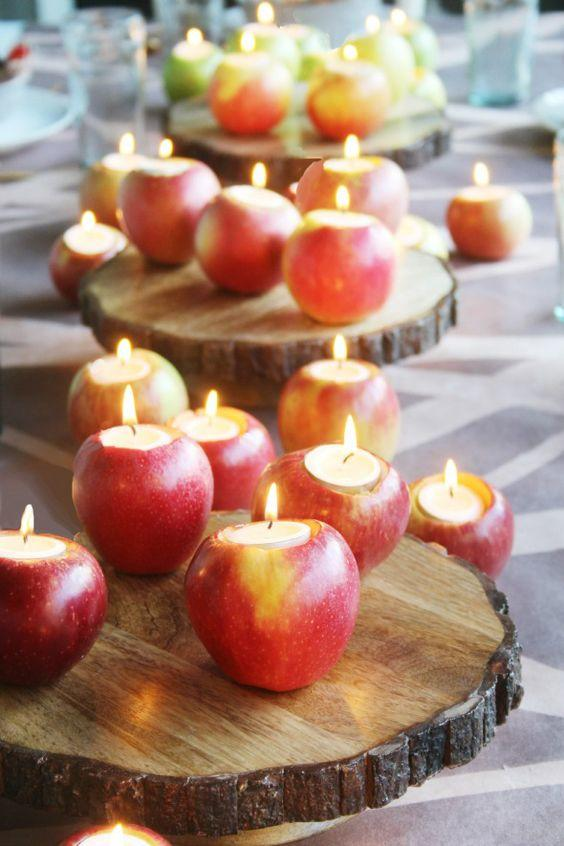 Apple Tealight Candles