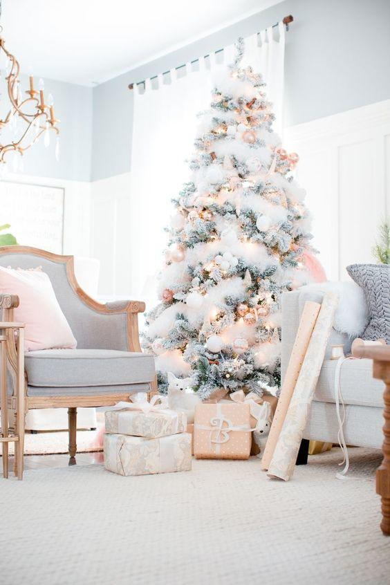 Bon Soft Pink And White Christmas Tree
