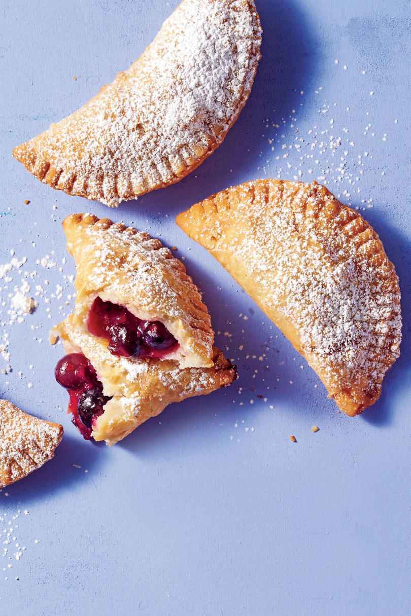 June- Fried Blueberry-Ginger Hand Pies