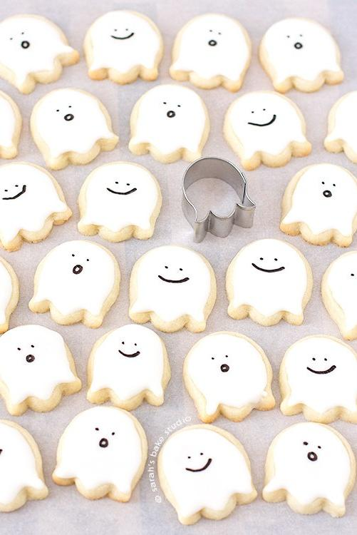 Happy Little Ghost Cookies