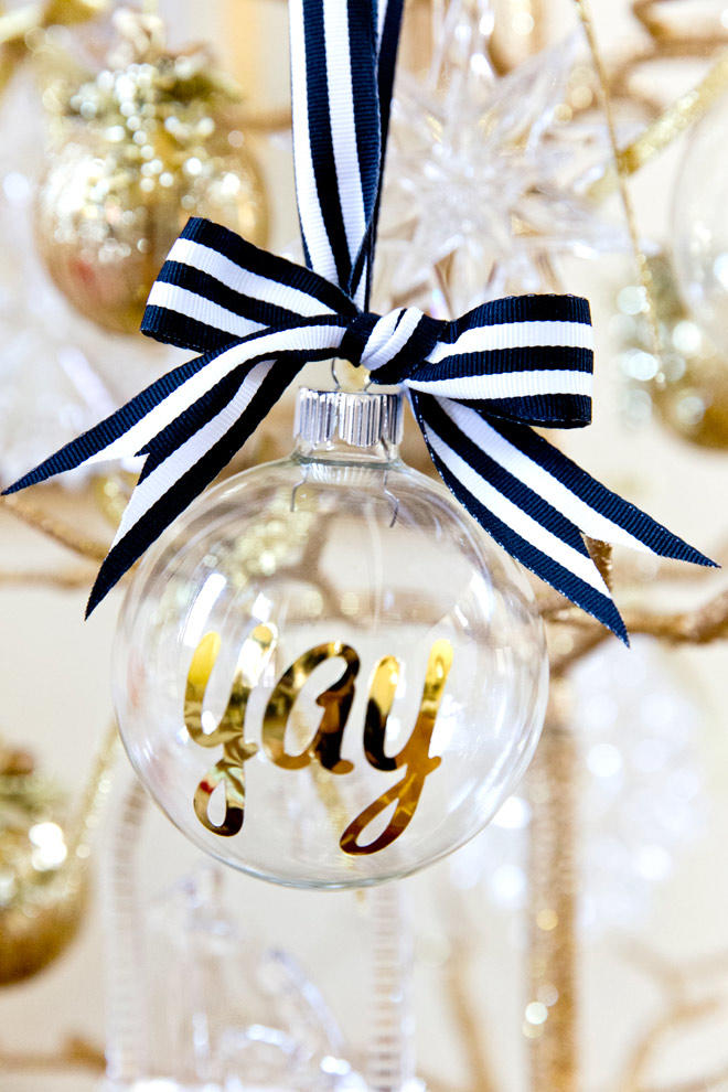 Personalized Gold Ornaments