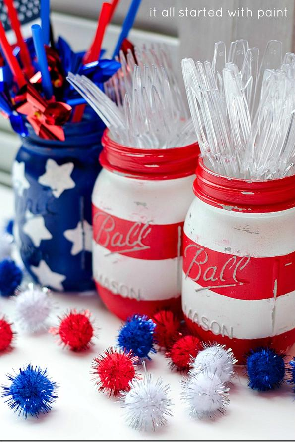 Patriotic Printed Jars