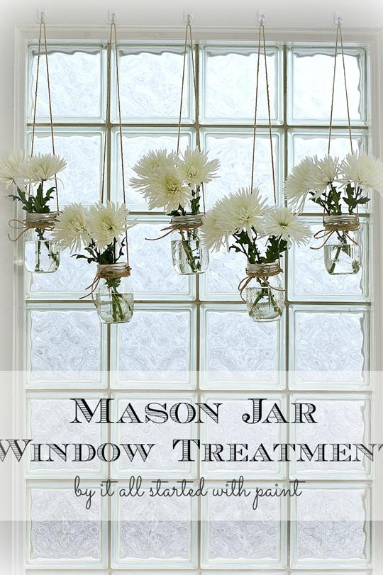 Mason Jar Crafts: Mason Jar Window Treatment