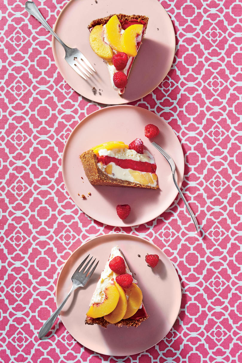 June- Peach Melba Ice-Cream Pie