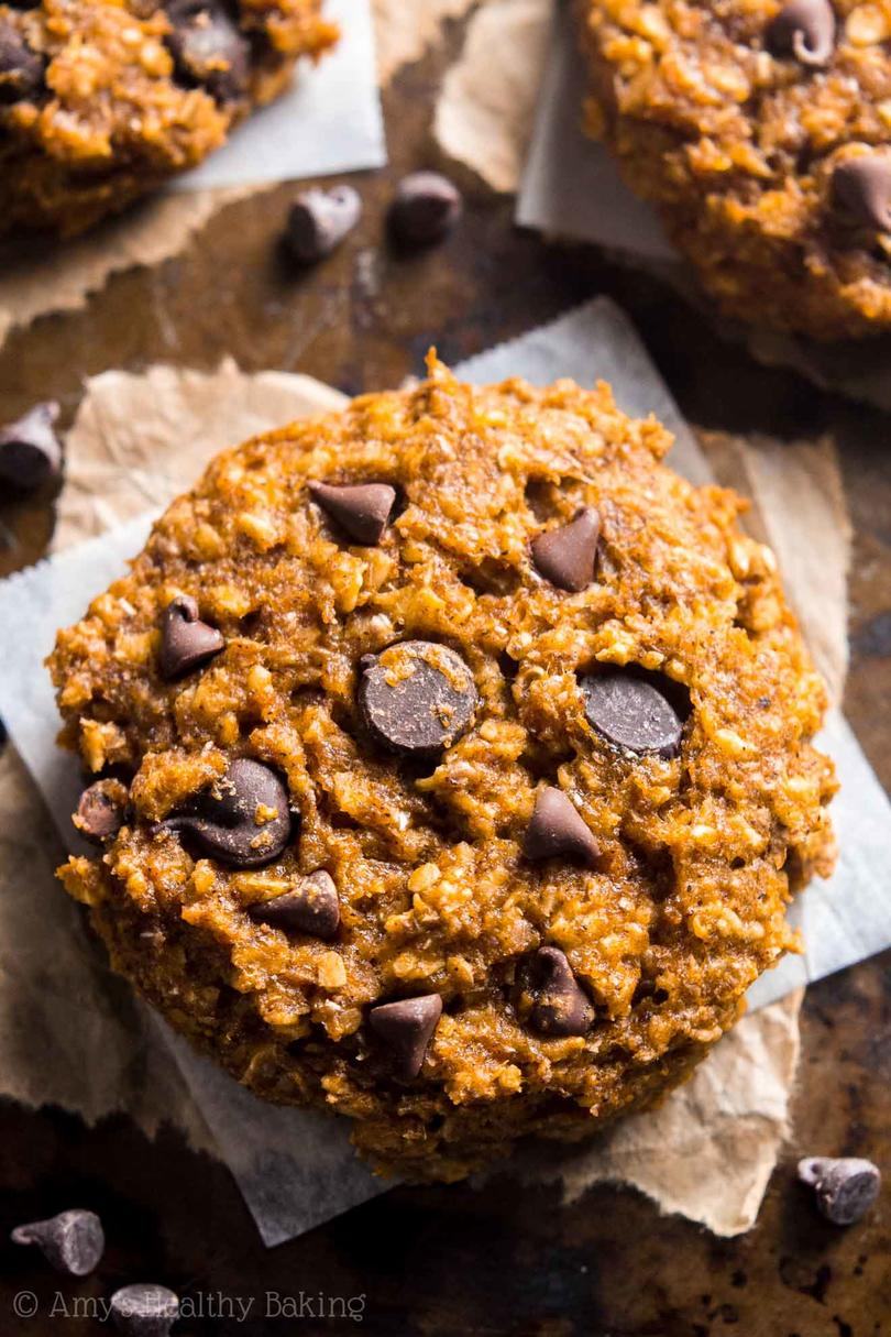 Pumpkin Pie Chocolate Chip Oatmeal Cookies