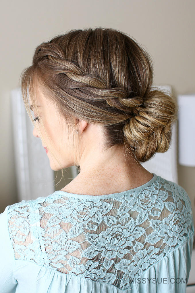 Rope Braid Low Bun