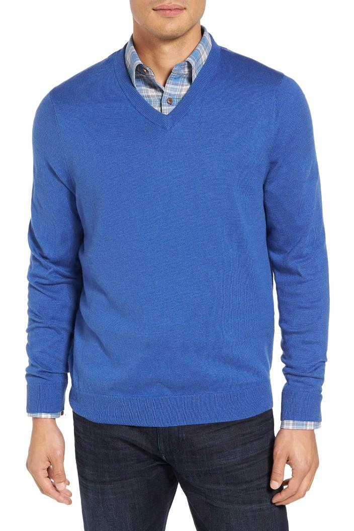 Cotton & Cashmere V-Neck Sweater