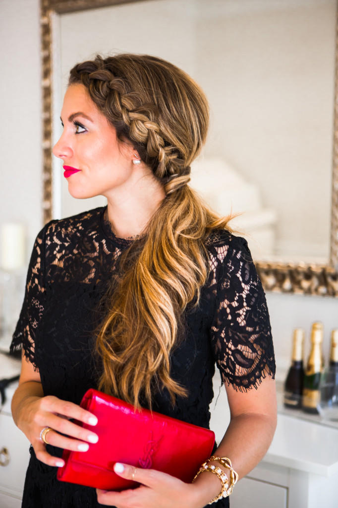 Fall Hairstyles: Side Dutch Braid Ponytail