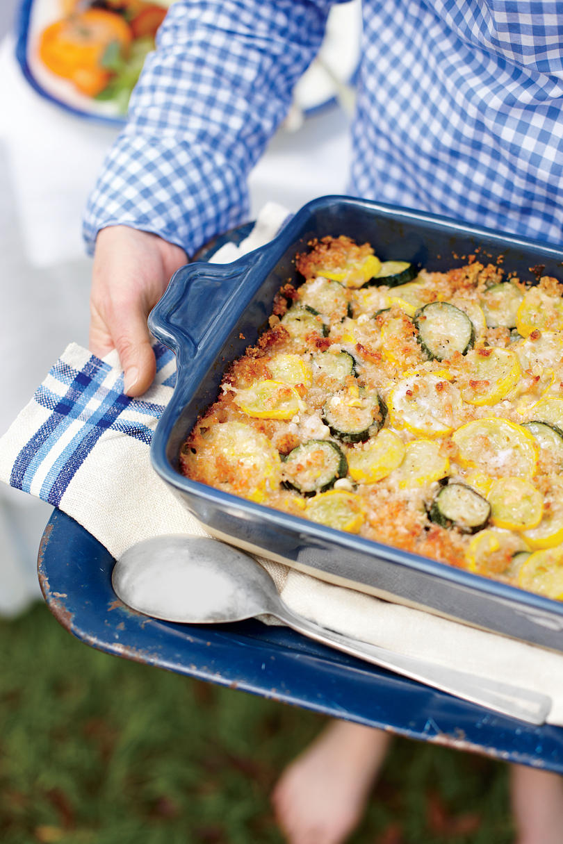 Zucchini, Squash, and Corn Casserole