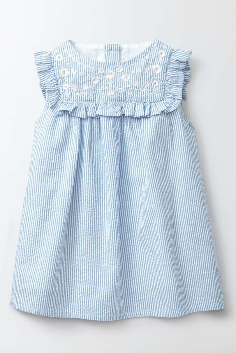 Mini Boden Embroidered Ruffle Dress