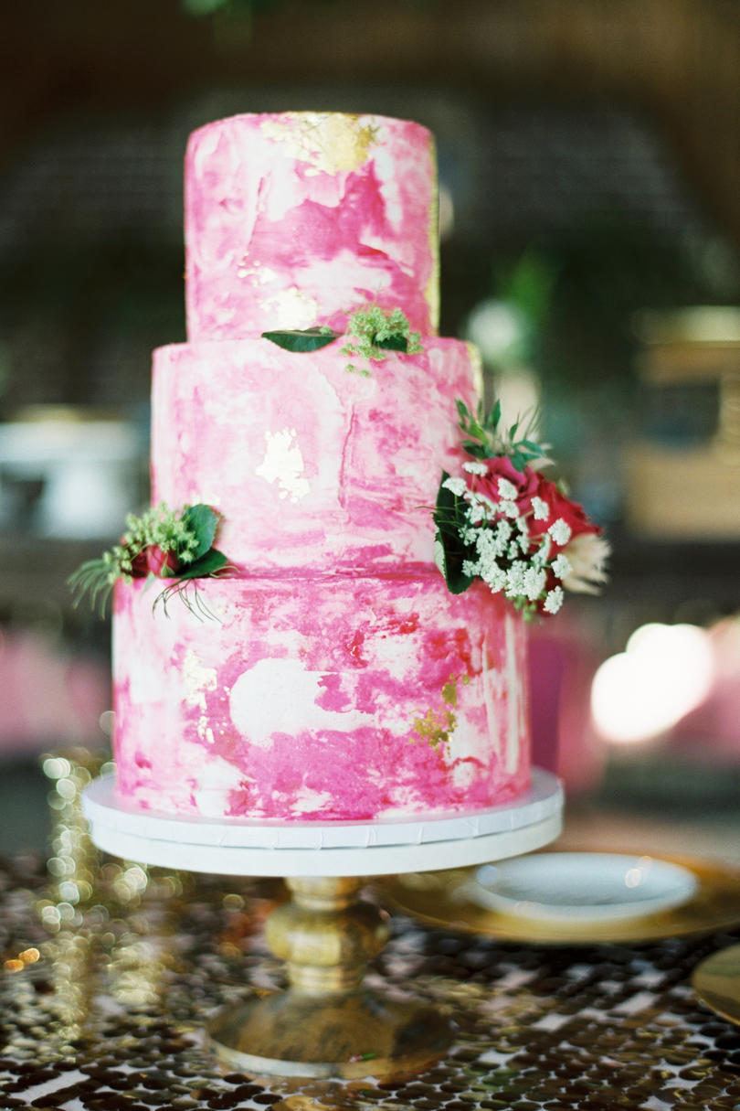 Whimsical Watercolor Cake