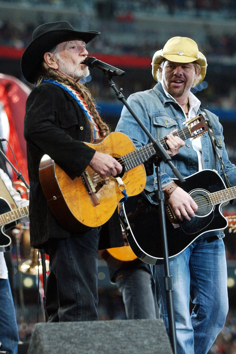 """Beer for My Horses"" Toby Keith and Willie Nelson, 2002"