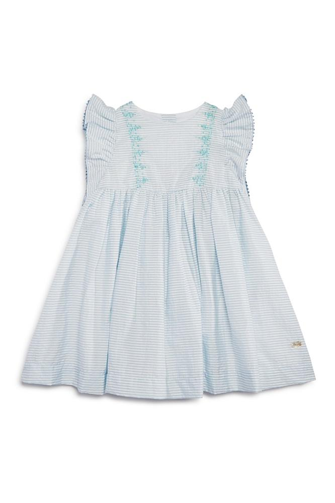 Most Adorable Flower Girl Dresses Bloomingdale's Blue Seersucker Baby Girl Dress