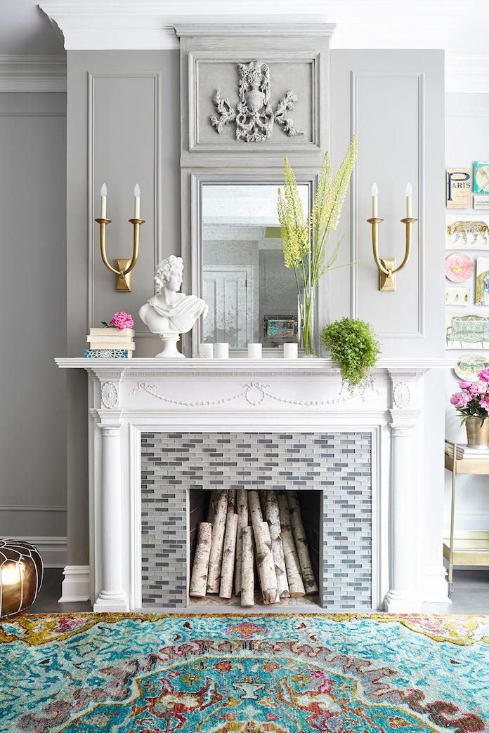 Bright White Fireplace