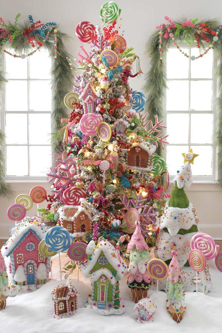 candy land christmas tree & Christmas Tree Themes for Any Style - Southern Living