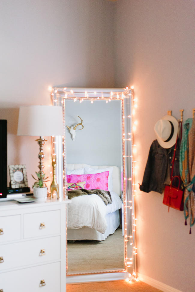 12 Ways to Use Your Christmas Lights in the Summer Christmas Lights Around Mirror