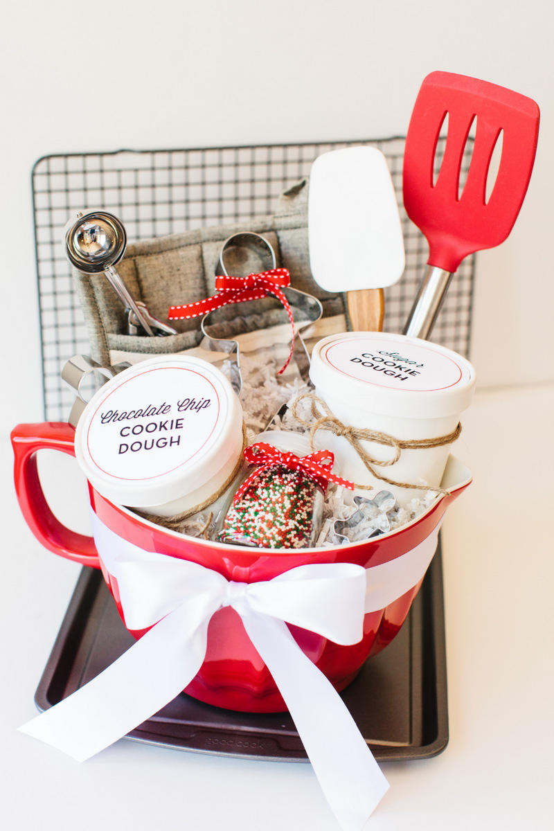 Red and White Cookie Basket