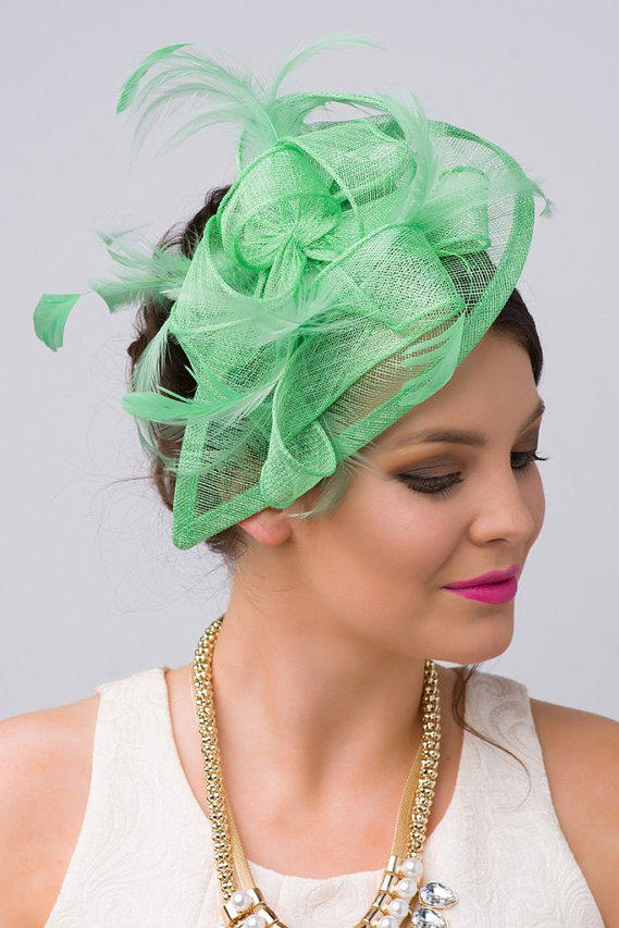 RX_1706_Kelly Green Fascinator
