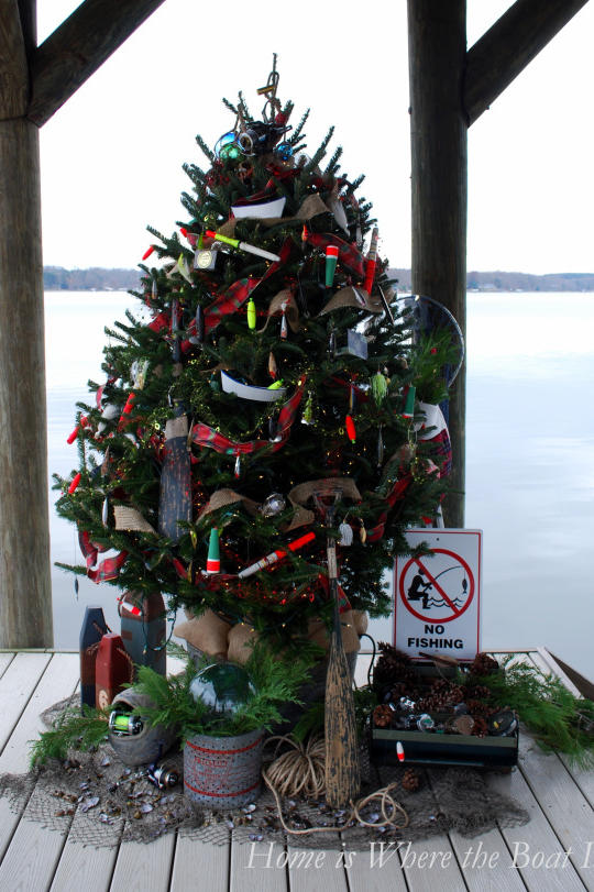 Fishing Christmas Tree