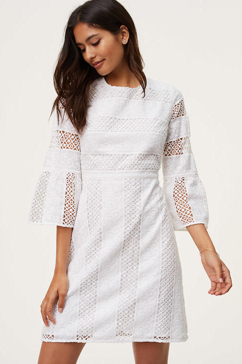 Classic Lace Bell Sleeve Dress
