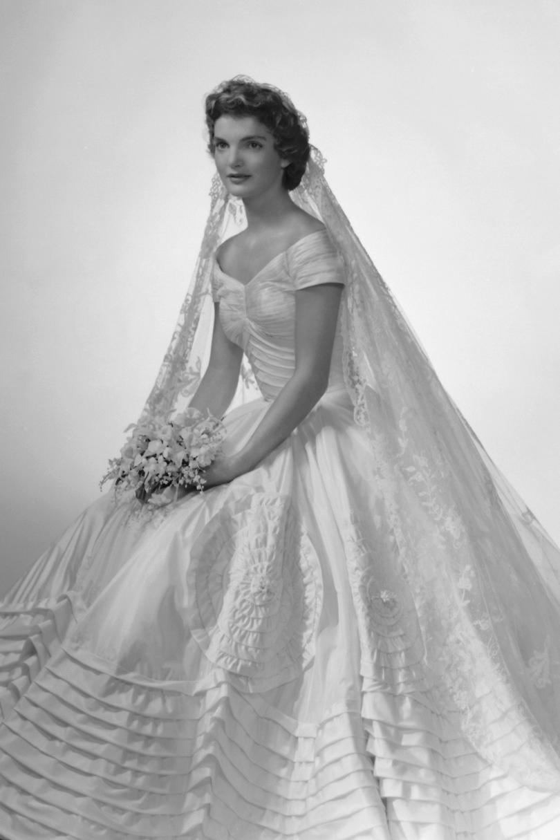 The most iconic wedding dresses of all time southern living jackie kennedy ombrellifo Gallery