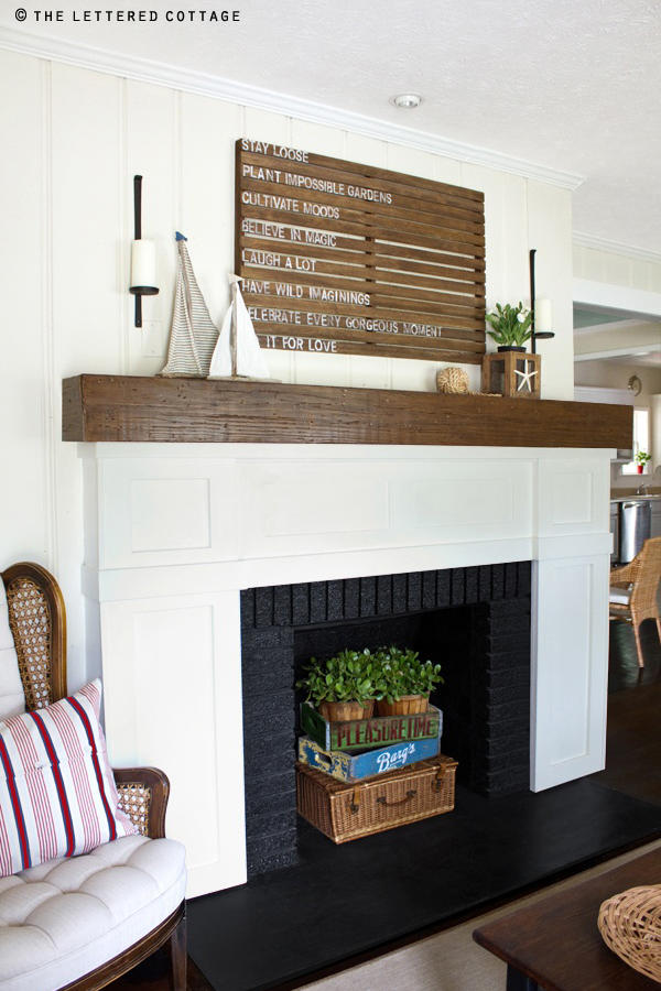 Country Coastal Fireplace