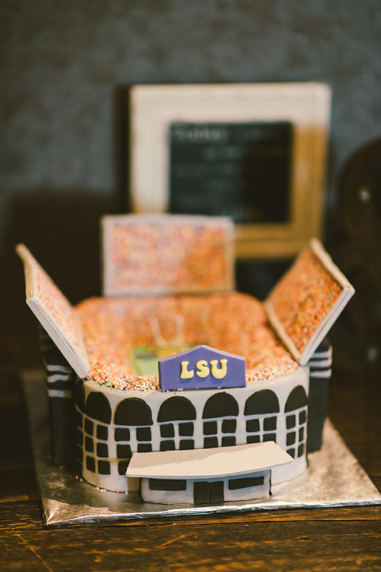 Louisiana State University Death Valley Stadium Grooms Cake