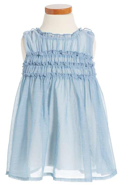 Most Adorable Flower Girl Dresses Nordstrom Soft Blue Ruffled Dress