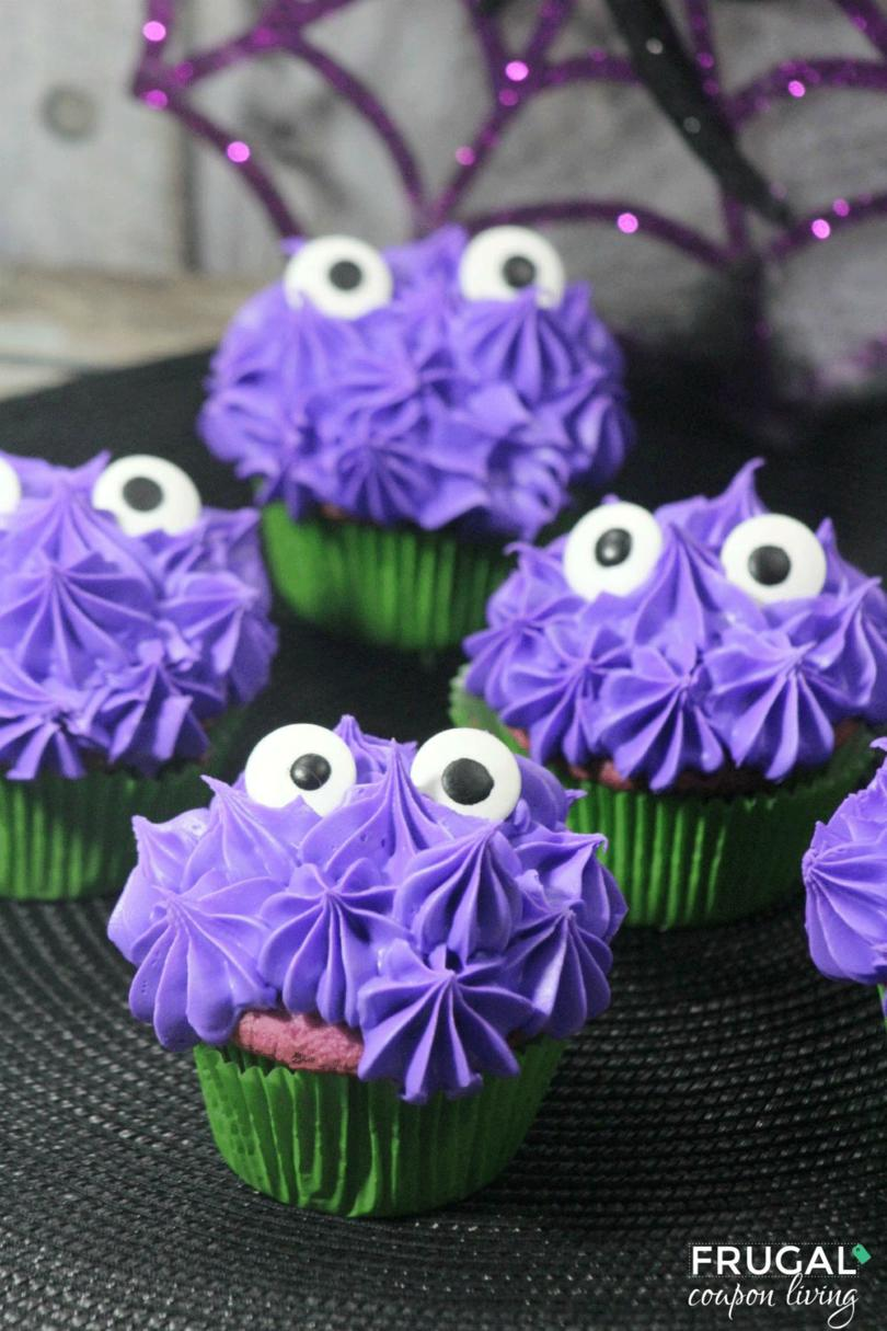 Peeking Eyes Monster Cupcakes