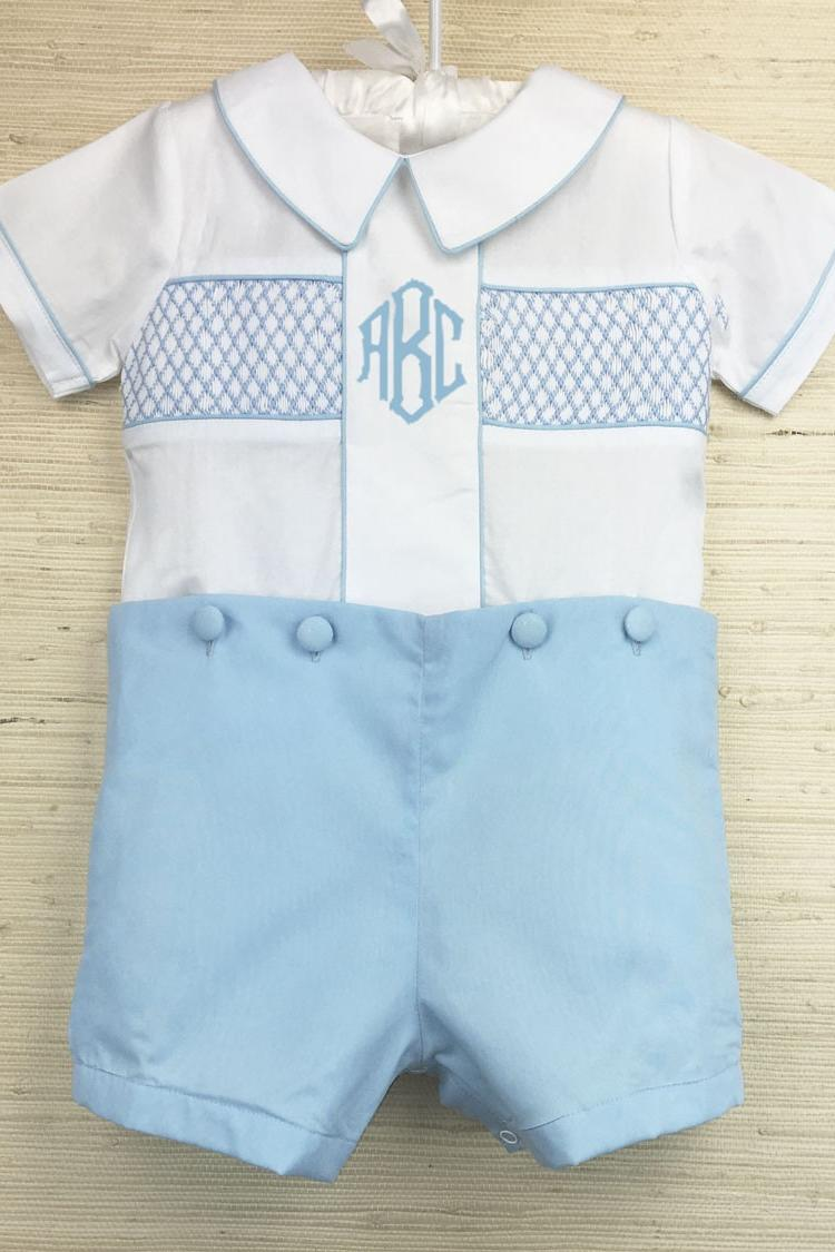 Smocked Button-On