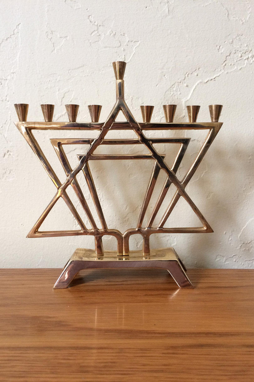 Star of David Menorah
