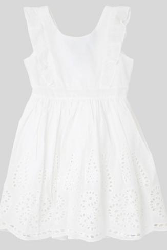 Most Adorable Flower Girl Dresses Target Eyelet Ruffle White Dress