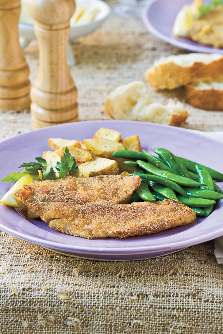 RX_1706_Recipes for Using Cast Iron Skillet on Grill_Natalie's Cajun-Seasoned Pan-Fried Tilapia