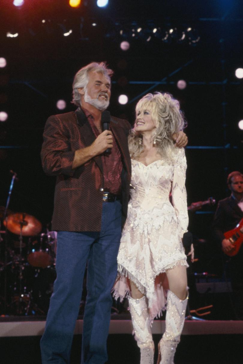 """Islands in the Stream"" Dolly Parton and Kenny Rogers, 1983"